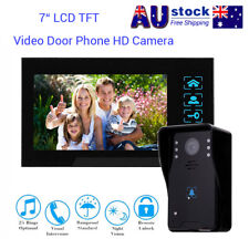 """7"""" LCD Intercom Video Door Bell Phone Camera+Monitor For Home Office System AU"""