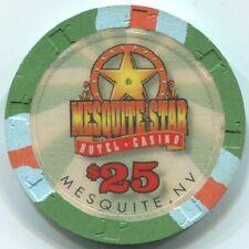 $25 Mesquite Star Casino Paulson chip - Small Star