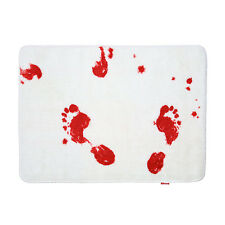 Bloodbath Bathmat - Blood Bath Mat - Scary Horror Movie Bloody Footprints