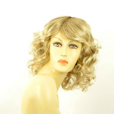 Perruque femme mi-longue blond méché blond très clair PRISCILIA 15t613