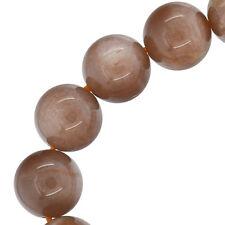"""16 Sunstone Round Beads 12mm 7.5"""" #74190"""