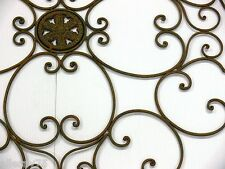 XXL FRENCH WALL ART DECOR 1m diametre WROUGHT IRON MURAL  NEW black