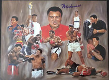 MUHAMMAD ALI Signed 14x10 Litho Print LEGENDARY Heavyweight BOXING CHAMPION COA
