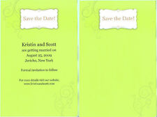 SAVE THE DATE CARDS The Knot Wedding Computer Printable