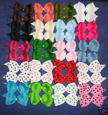 """""""40 SMALL BOUTIQUE HAIRBOWS"""" (Dots/Solids)"""