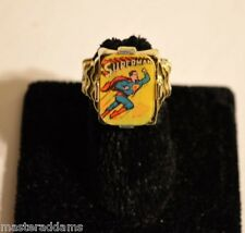 Rare SUPERMAN FLICKER FLASHER RING Vari-Vue 1959-1963 Step Base FLYING & HEAD