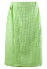 Lot 10 Leisureland Women's Spa Wedding Bridesmaids Gifts Waffle Wrap Robe Lime