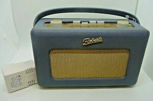 Original Roberts Revival Radio R250 Blue 50's w/ Main Plug Spares or Repair (H3)