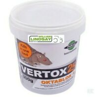 Vertox Rat and Mouse Killer Poison Bait Blocks Single Feed Strength 300g Tub