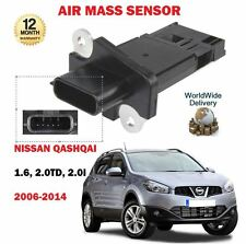 FOR NISSAN QASHQAI 1.6i 2.0 DCI 2.0i J10 JJ10 2006-2014 NEW AIR MASS SENSOR