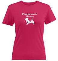 Dachshund Mama Juniors Women Tee T-Shirt Gift Print Sausage Dog Lover Shirts