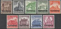 Stamp Germany Luxembourg Mi 33-41 Sc NB1-9 WW2 1941 3rd Reich Occupation MNH