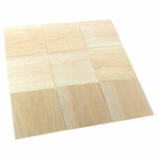 20x Wooden Plate Model Balsa Wood Sheets for DIY House Ship Aircraft 100x100x1mm