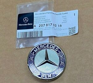 Mercedes-Benz C CL CLK CLS E GL GLK ML SL R S Class Hood Emblem Badge Genuine OE