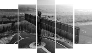 Newcastle > Angel of the north > 5 piece canvas > canvas > Print >Art > Home