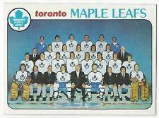 1978-79 TOPPS HOCKEY #206 MAPLE LEAFS CHECKLIST - NEAR MINT