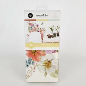 """RoomMates 20 Peel & Stick Wall Decals Garden Bouquet Floral New 17"""" x 9"""""""