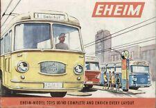 catalogo EHEIM 1963 Model Toys OO/HO Trolleybus - Cable Railway    E   aa