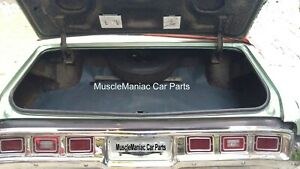 1971-1973  Chevrolet Chevy Impala FELT/RUBBER TRUNK MAT Herringbone 71 72 73