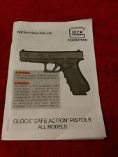 Factory Original Glock Safe Action Pistols All Calibers Instruction Owner Manual