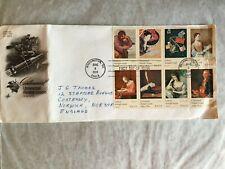 UNITED STATES USA 1974 FDC ART CRAFT LARGE UPU ROCKET HORSE PONY EXPRESS 8 BLOCK