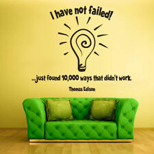 Wall Decal Vinyl Sticker Decals Sign Words Quote Failed Thomas Edison (Z1330)