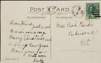 Antique 1912 Post Card MISSISSAGI Ontario - DPO Cancel