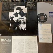 THE CURE Picture Show JAPAN Laser Disc LD VALP-3251 w/ STICKER-OBI+INSERT+P.CARD