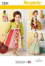 Simplicity Pattern 1331 Toddlers' Dress and Bolero children's clothes girl