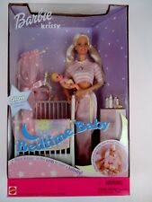 Barbie and Krissy Bedtime Baby With Musical Crib 2000 Mattel NEW Old Stock