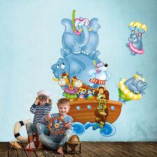 RCC0017 WallStickers Adesivi Murali Bambini In viaggio sull'arca 60x120 cm