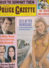National Police Gazette Sonny Cher Irma Smith Ted Kennedy March 1974
