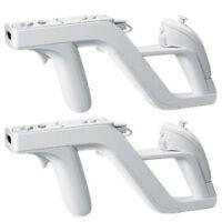 Pack 2 Zapper Pistol Gun for Controlling Nintendo Wii Control White