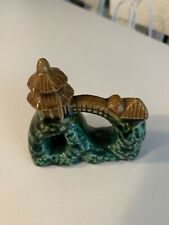 New listing Japanese Pagoda Fish Tank Aquarium Ceramic Ornament Made In Korea Vintage