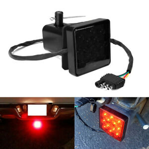 """Smoked 15-LED Brake Light DRL Trailer Hitch Cover Fit 2"""" Towing & Hauling New"""