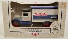 Ertl True Value Hardware 1931 Truck Delivery Die-Cast Boxed Bank Rubber Tires