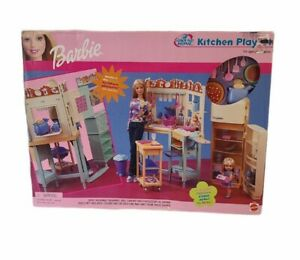 Barbie All Around Home Kitchen Playset 2000 Mattel Set NIB Sealed