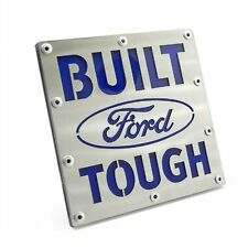 Built Ford Tough Brushed Steel Tow Hitch Cover