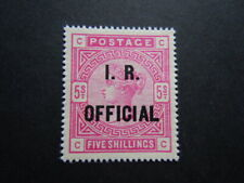 Gran Bretagna 1886 regina FISCO IR OFFICIAL  francobolli nuovo M.N.H**   RRR