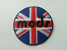 VESPA / LAMBRETTA SCOOTER RALLY MOD SEW / IRON ON PATCH:- MODS UNION JACK CIRCLE