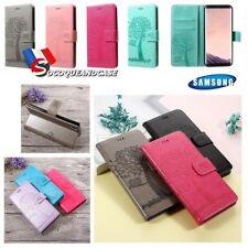 Etui coque housse NATURE Cuir PU Leather case Samsung Galaxy A20 A30 A40 M10 M20