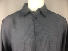 Consensus Men's Blue Checks Button Front Rayon/Poly S/S Camp Shirt L Large NWT