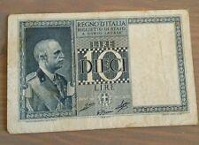 Lire 10 Vittorio Emanuele III° 1939 BB