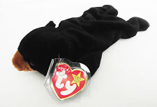 TY BEANIE BABY BLACKIE BEAR PVC 6TH GEN HANG TAG & TUSH TAG 6 ERRORS RETIRED NEW