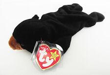 TY BEANIE BABY BLACKIE BEAR PVC 6TH GEN HANG TAG & TUSH TAG 6 ERRORS RETIRED NEW