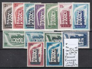 Europa, très belle année Europa 1956 complète, neuf**/* cote 724,00€