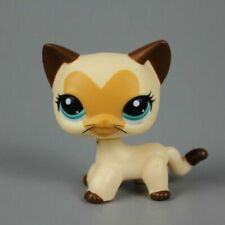 Hasbro 3573 Littlest Pet Shop LPS Tan Brown Heart Face Short Hair Cat Toy
