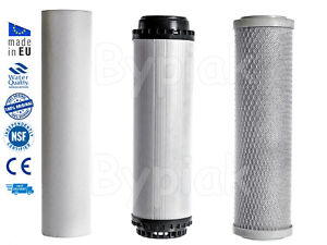 """New 10"""" Water Filter Replacement Set RO Pre Filters Sediment GAC Carbon Block"""