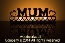MUM tea light holder, perfect mother's day gift, keepsake. by Woodworkcraft