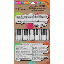 Stampendous Cling Stamp Cling Musical Motif 3 Stamps CRS7003